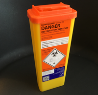 Bin Sharps, 0_5Ltr, Orange Top